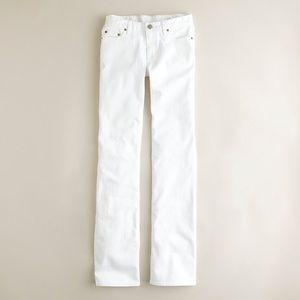 NWT J. Crew Short Bootcut Classic White Jeans